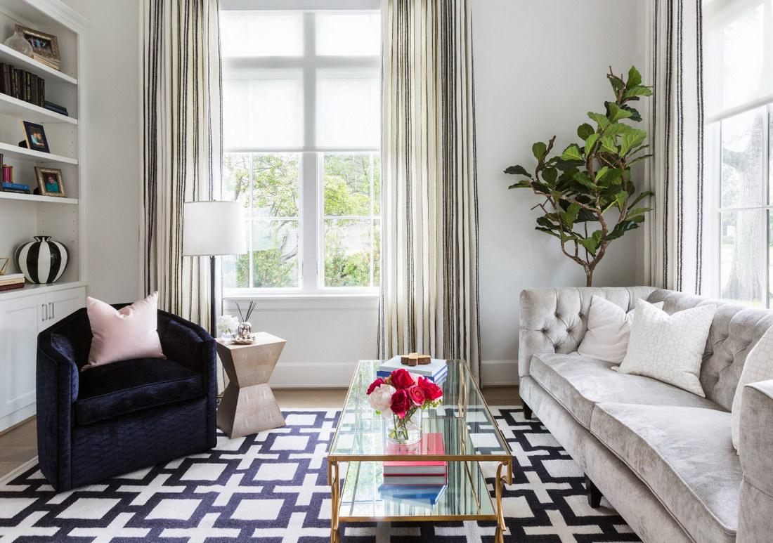 Черно-белые ковры: модная тенденция в интерьере 70 фото