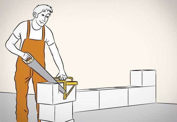 Технология кладки стен из блоков в шесть шагов