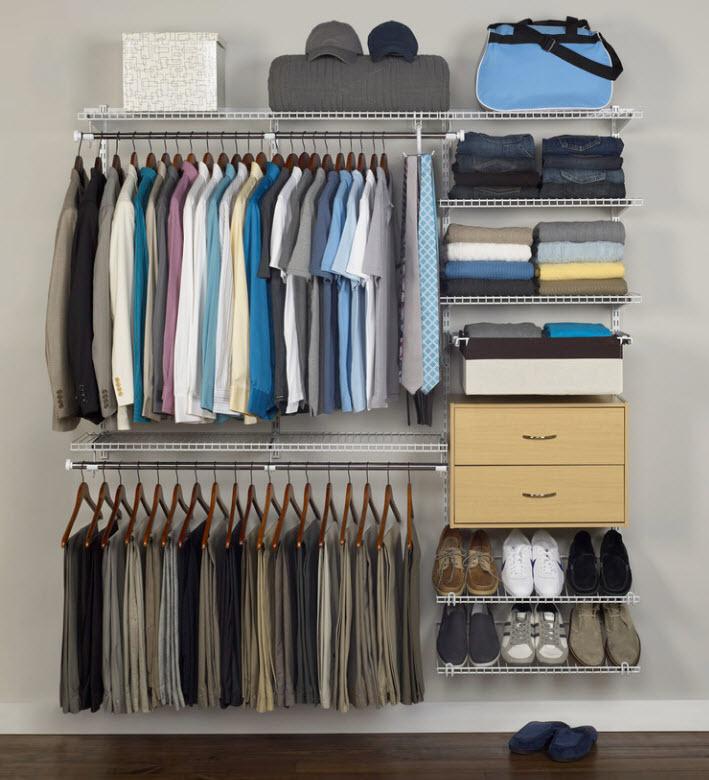 Дизайн гардеробной комнаты – 80 фото в интерьере