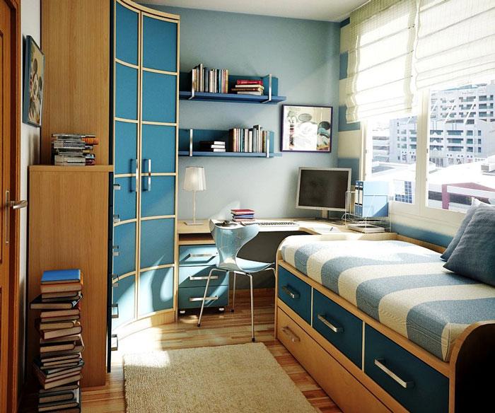 Синяя мебель для интерьера квартиры