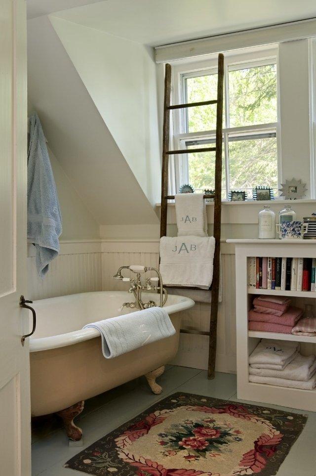 Ванные комнаты в стиле ретро, 25 фото