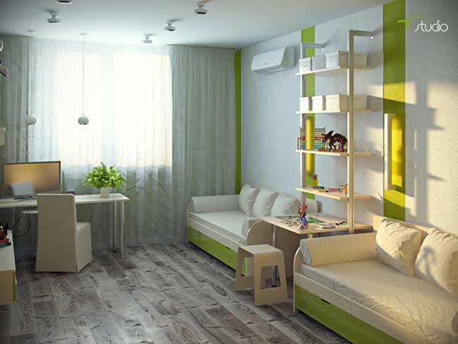 Экостиль в интерьере квартиры с гостиной совмещенной с кухней