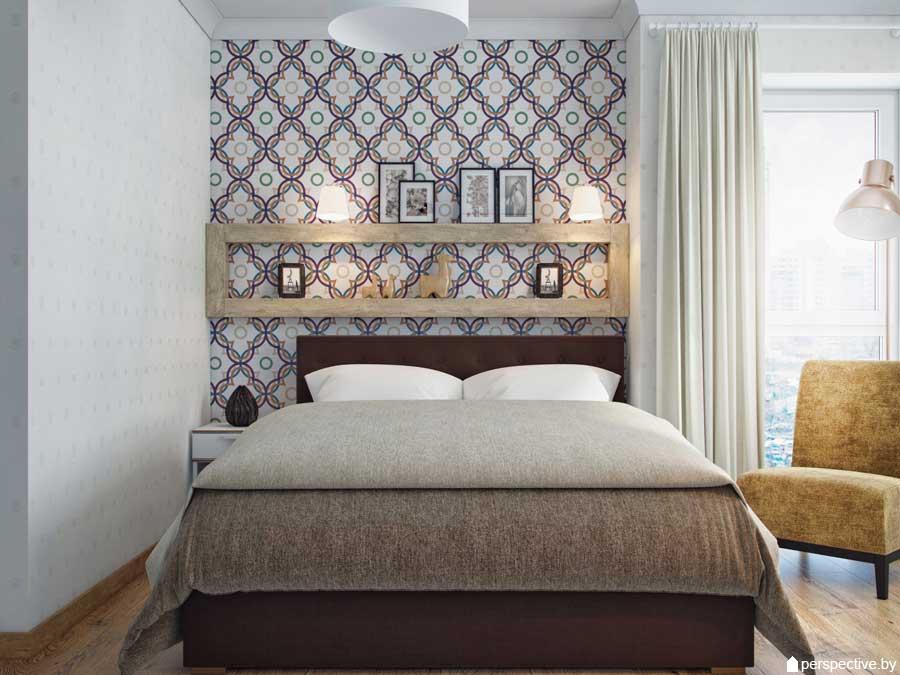 Дизайн 3-комнатной квартиры 80 кв. м. в ярких красках. фото