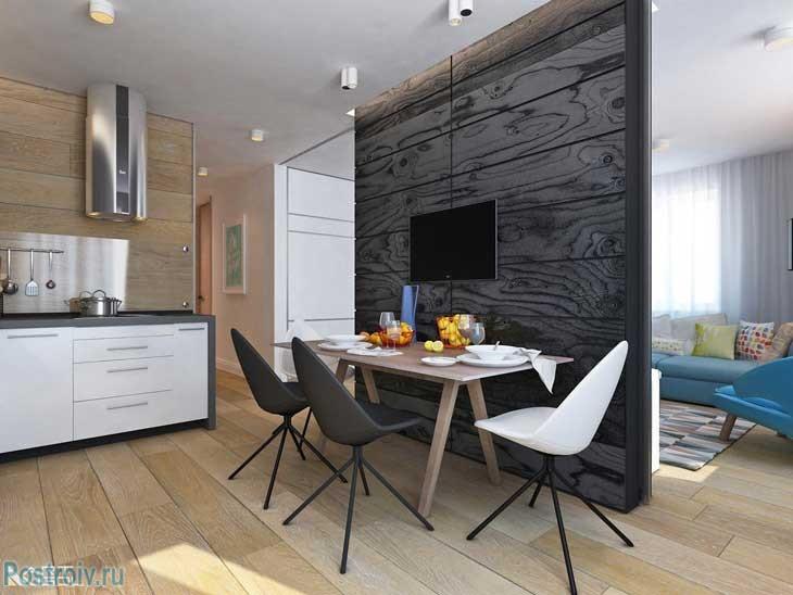 Дизайн квартиры для девушки. как разделить кухню и гостиную перегородкой. фото пример