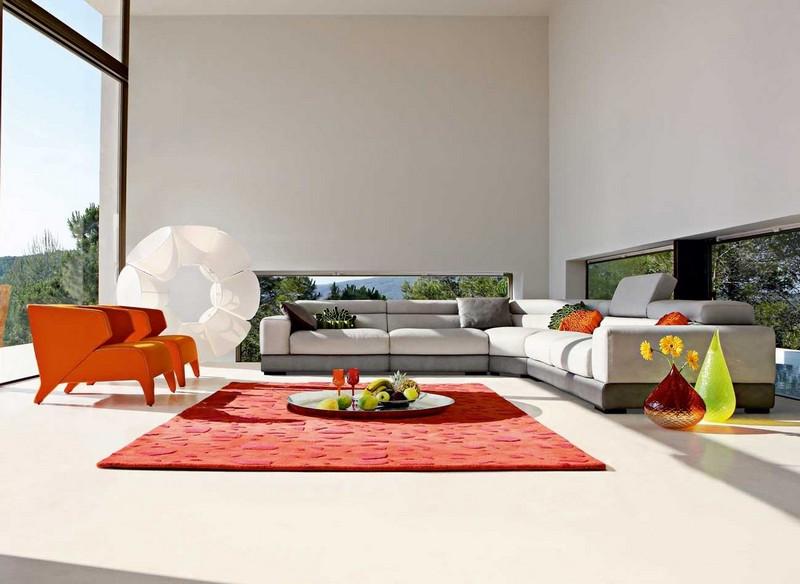 Серый диван в интерьере, 50 фото