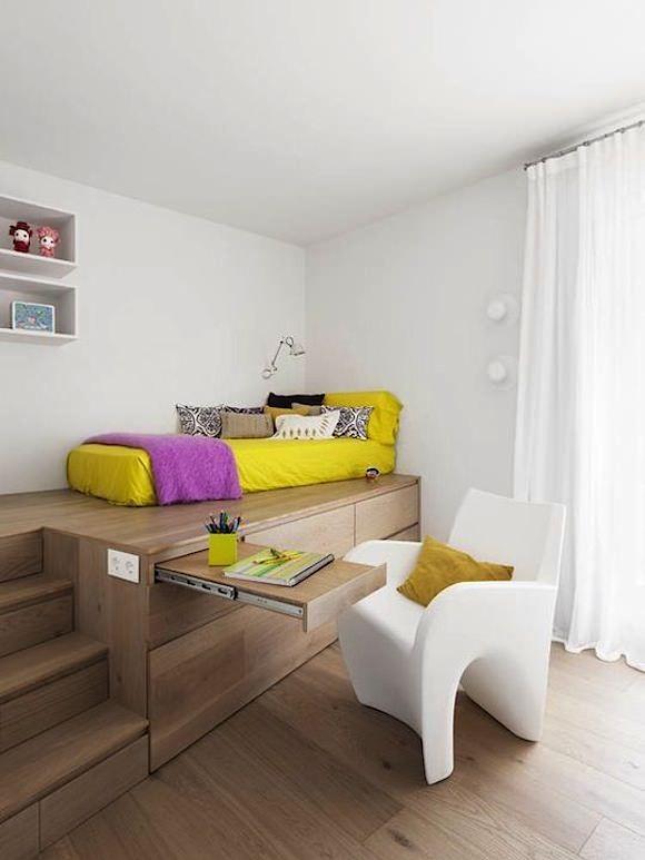 Кровать чердак с рабочей зоной 35 фото