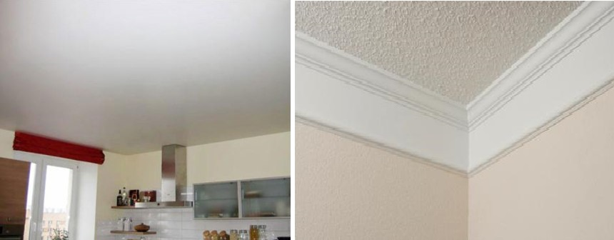 Виды потолков для кухни. фото
