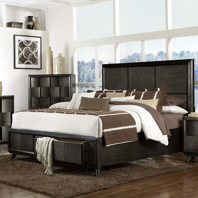 Кровать с выдвижными ящиками — 50 красивых идей