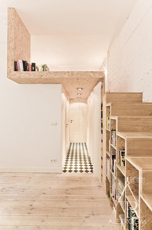 Удивительный дизайн однокомнатной квартиры-студии от alexroom