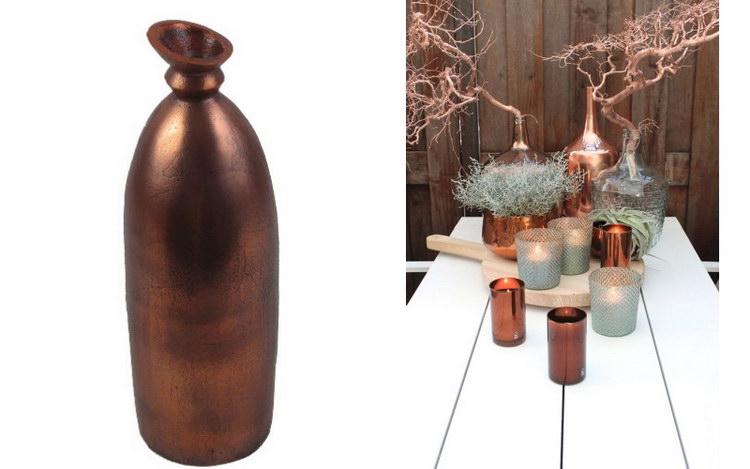 Медные вазы - модный тренд в декоре интерьера фото
