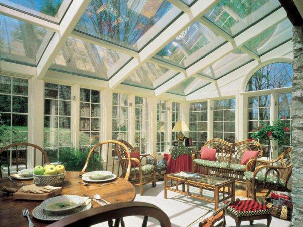 Лучшие зимние сады и оранжереи в доме — 42 фото