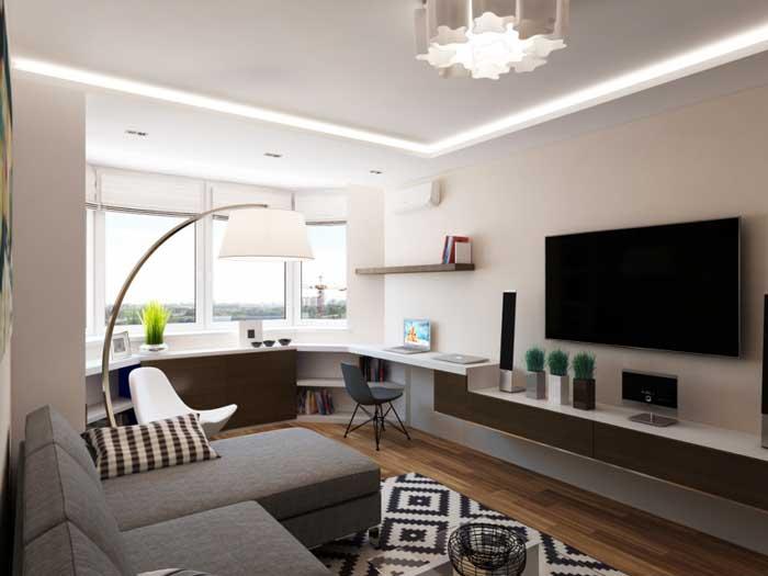Дизайн проект однокомнатной квартиры 30 кв. м.