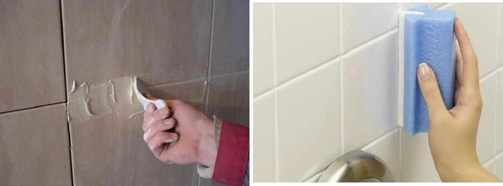 Затирка швов плитки в ванной своими руками. фото и видео