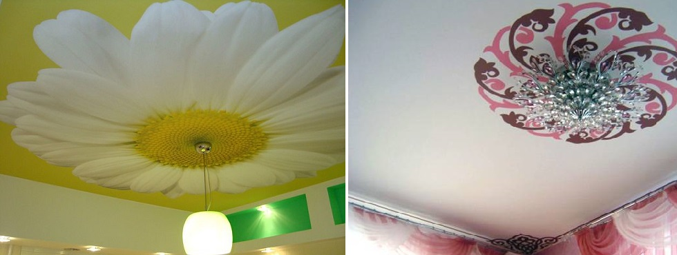 Натяжные потолки на тканевой основе. фото