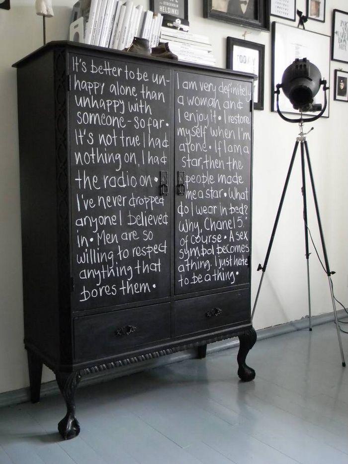 Diy: шкаф с покрытием для меловой доски