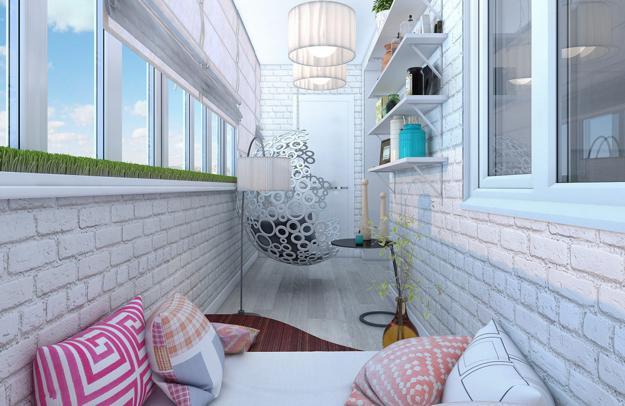 Практичные идеи оформления балконов и лоджий, 30 фото