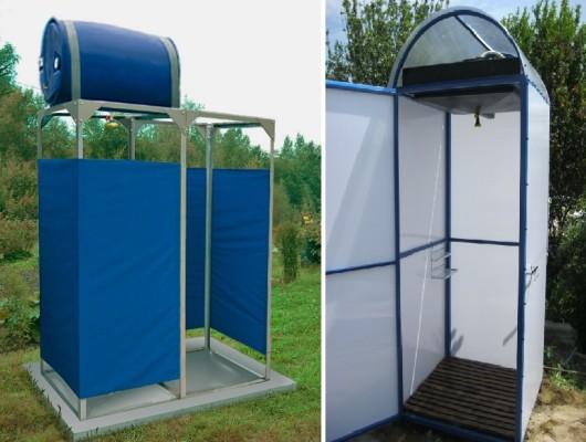 Строительство летнего душа на даче своими руками. размеры, фото и видео