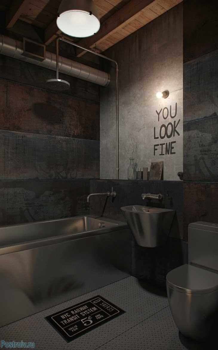 Индустриальный стиль в интерьере или лофт в квартире типовой планировки. 55 фото