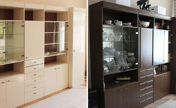 Как обновить старую мебельную стенку своими руками с фото до и после