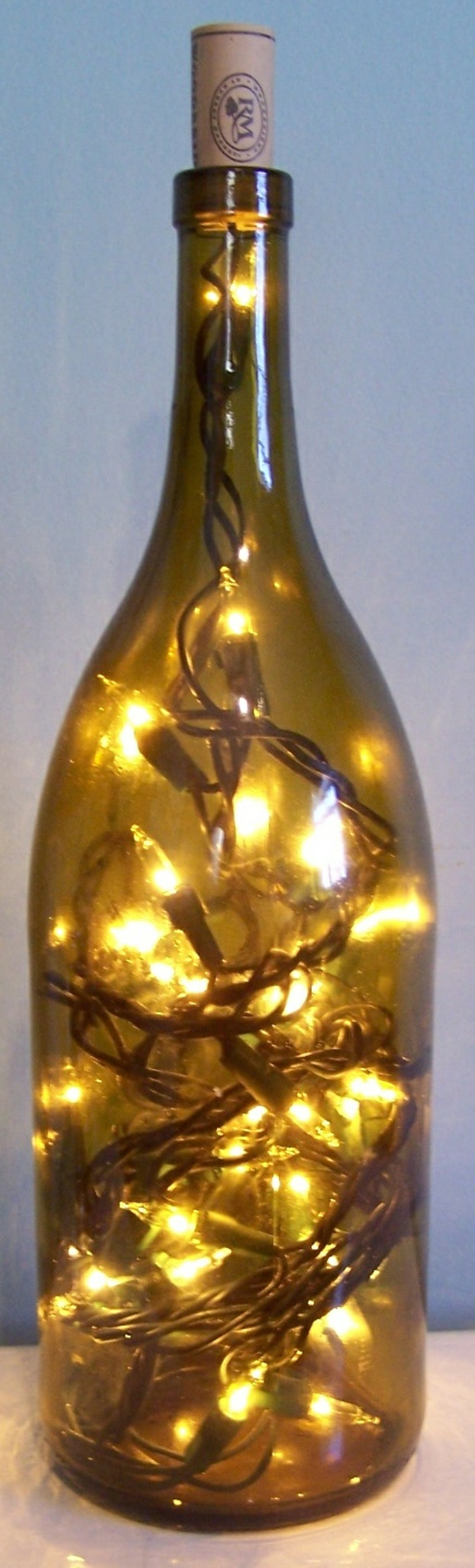 Как сделать лампу из бутылки своими руками, 27 фото