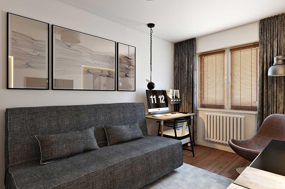 Интерьер 2-х комнатной квартиры 45 кв. м. в современном стиле от decolabs