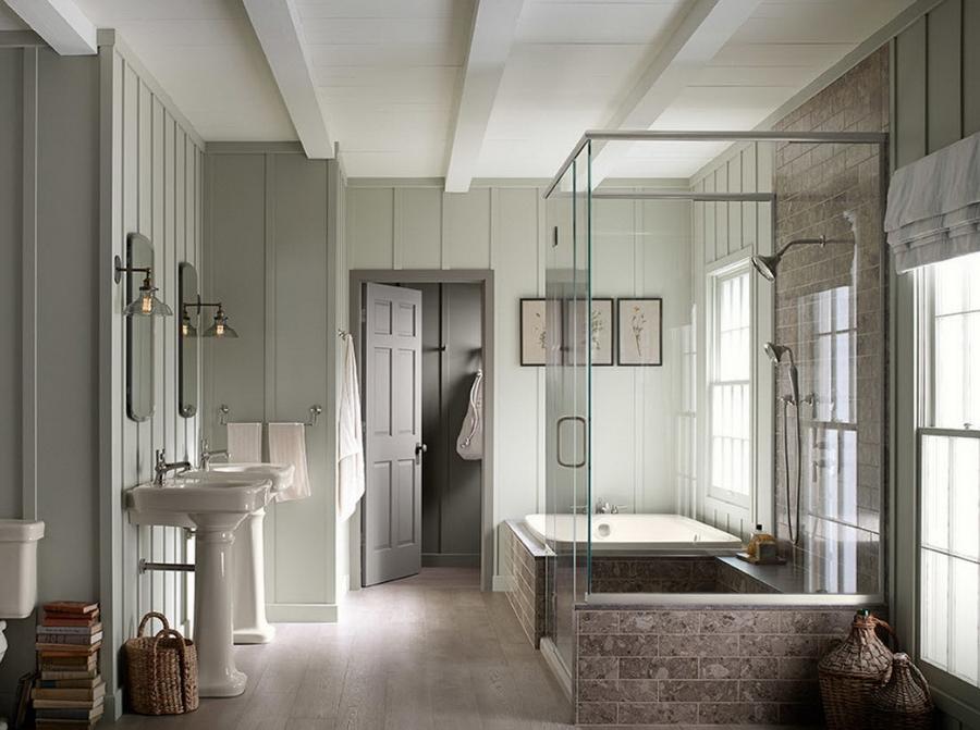 Ванная в доме - выбираем свой вариант 60 фото