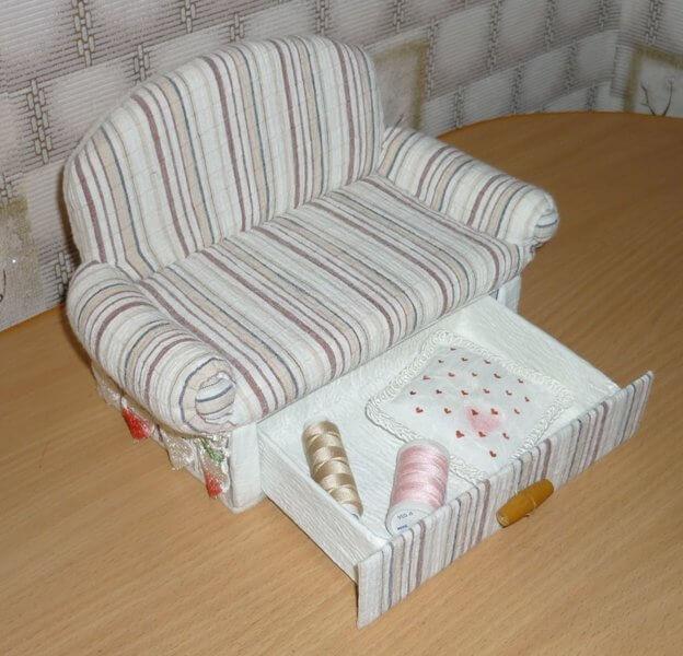 Как сделать кукольную мебель своими руками