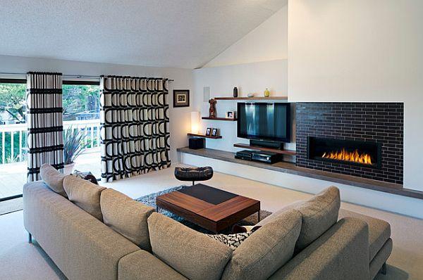 Черно – белые шторы: лаконичный дизайн монохром 35 фото в интерьере