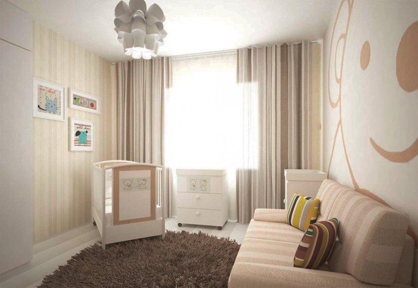 Интерьер детской комнаты для новорожденного (25 фото), мебель для детской, новорожденный мальчик, для девочки