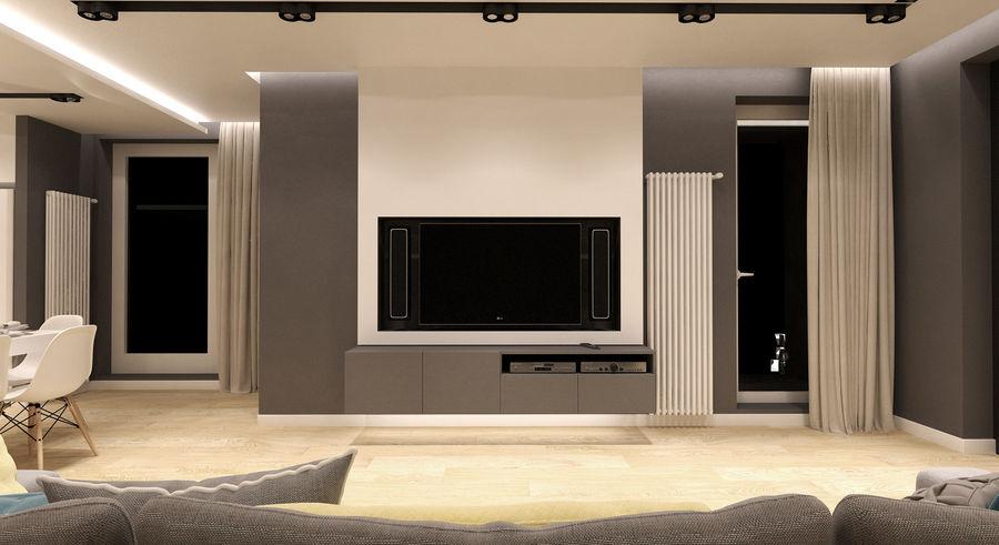 Современный дизайн трехкомнатной квартиры. фото двух проектов от лучших дизайн-студий