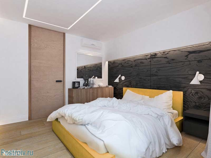 Дизайн спальни 12 кв. м. современные интерьеры спальной комнаты. фото