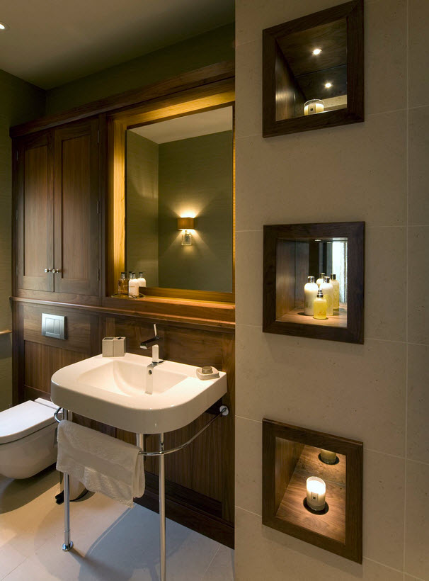 Делаем свет в ванной комнате - что не забыть? 67 фото