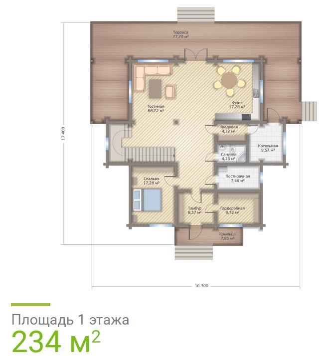 Дом из клееного бруса - фото внутри и снаружи, проекты с планировками 145 фото