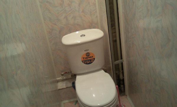 Отделка туалета панелями пвх своими руками. видео, фото