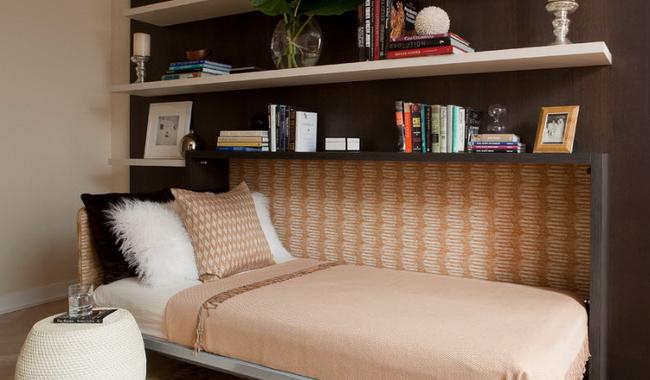 Кровать с подъемным механизмом - фото
