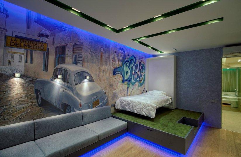 Спальня для подростка мальчика (35 фото)