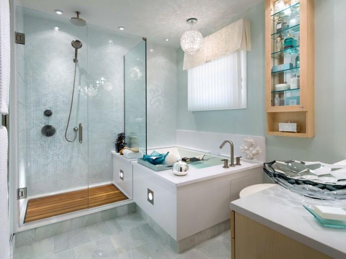 Дизайн ванной комнаты - фото интерьера