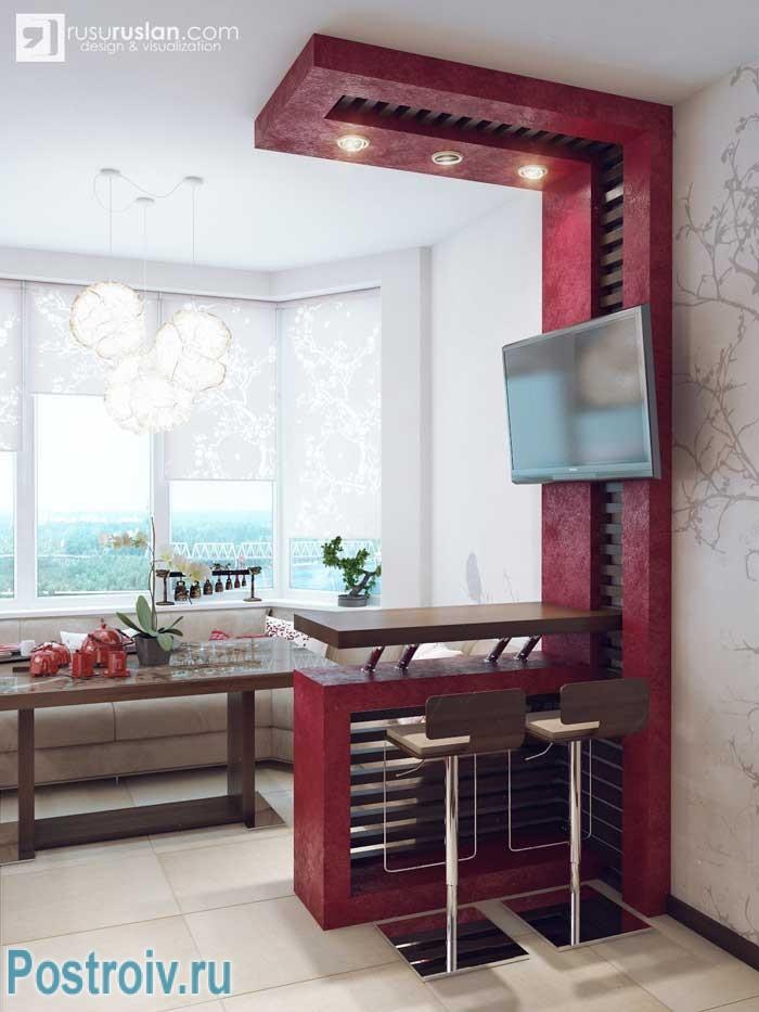 Кухня с эркером в японском стиле. два цветовых варианта