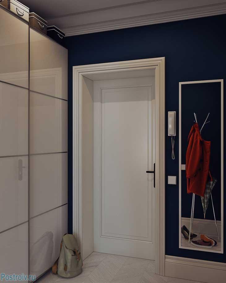 Белоснежный дизайн квартиры 25 кв. м. в скандинавском стиле. планировка дома и-155мкс