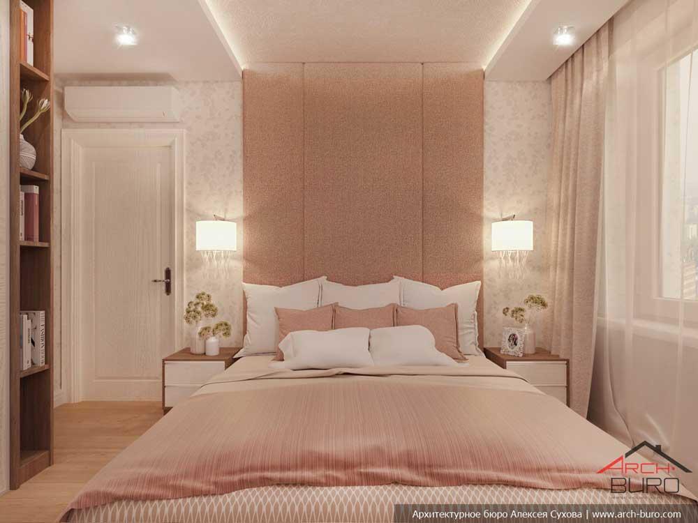 Дизайн розовой спальни 11 кв. м. фото