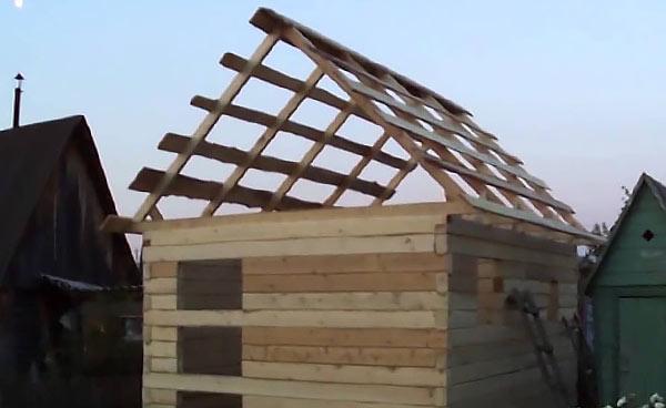 Строительство бани из бруса 3х4 своими руками