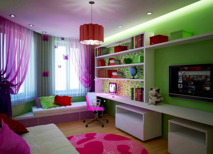 Интерьер гостиной - спальни