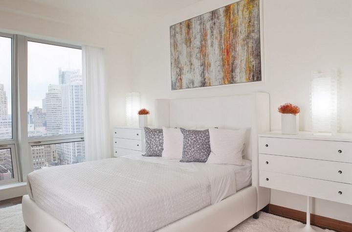 Спальня в стиле минимализм - 77 фото