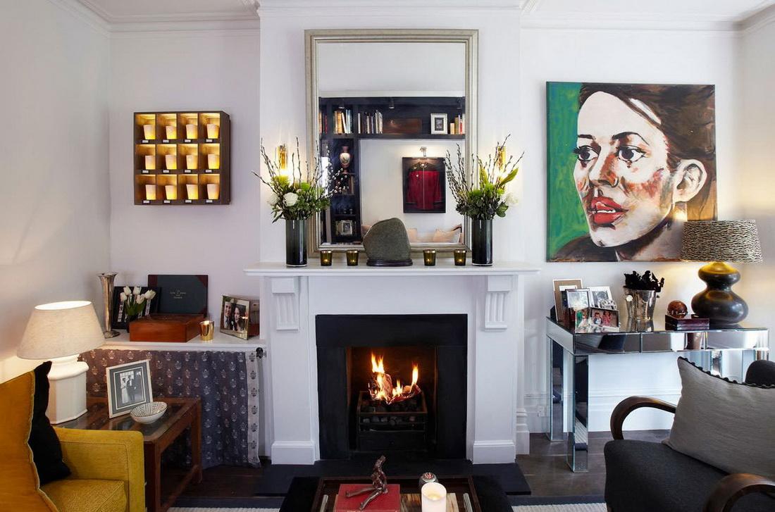 Зеркало в гостиной: советы и идеи 44 фото