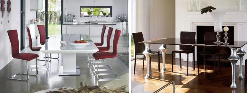 Стеклянные столы для кухни. фото