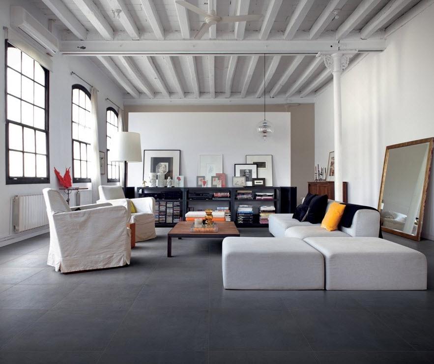 Для какой комнаты выбрать серые полы? 60 фото