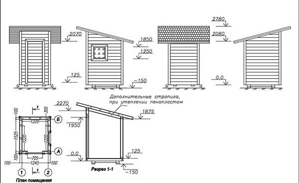Строительство дачного туалета своими руками: чертежи и схемы