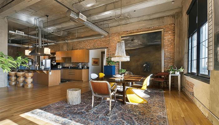 Дизайн квартиры в стиле лофт: фото