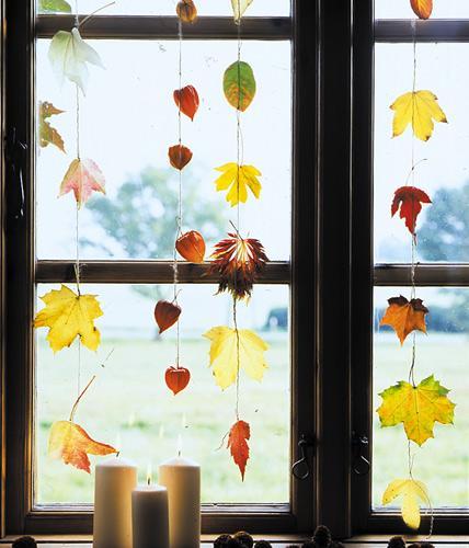 Осенняя гирлянда своими руками — 5 фото и мастер-классов
