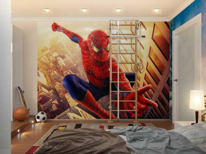 Дизайн детской комнаты с фотообоями для мальчика подростка 7-11 лет